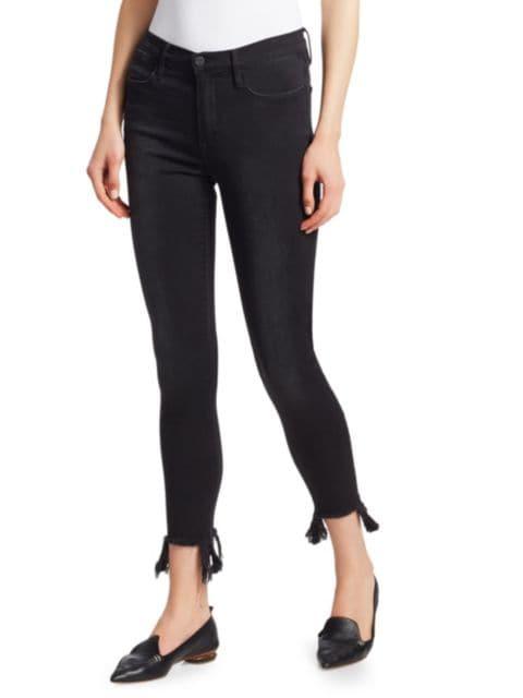 Frame Le High Skinny Stiletto Hem Jeans   SaksFifthAvenue