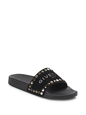 38ea293cd620 Givenchy - Flat Pool Studded Leather Slide - saks.com