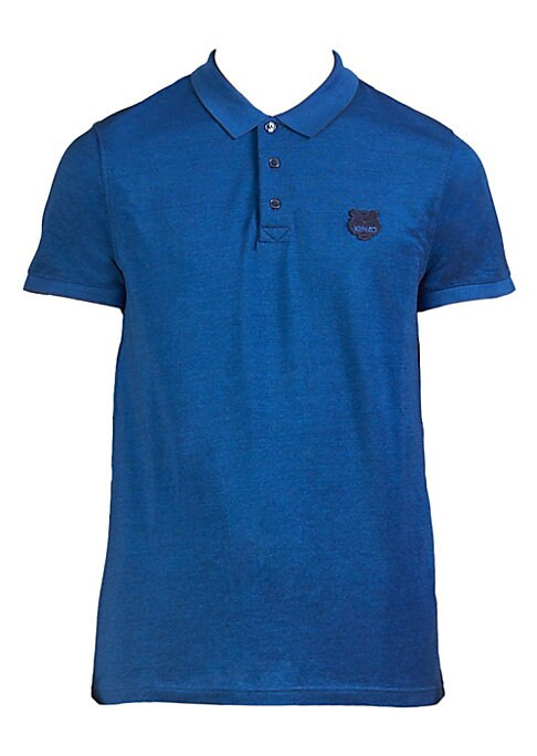 "Image of Comfortable cotton polo with logo detail on chest. Polo collar. Short sleeves. Three-button placket. About 26"" from shoulder to hem. Cotton. Machine wash. Made in Portugal."
