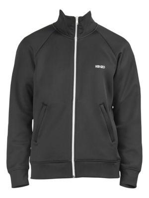 KENZO Men'S Zip-Front Track Jacket, Black