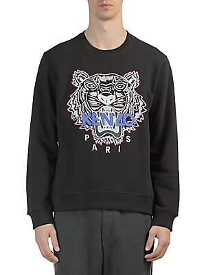 ec90147b0016 Kenzo - Iconic Tiger Crewneck Cotton Sweatshirt