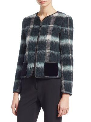 169dddedfb Mohair & Alpaca Zip-Up Jacket