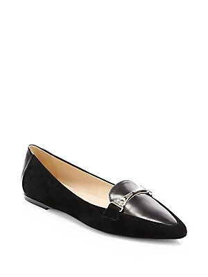 6dc7cdf6f16 Salvatore Ferragamo - My Joy Leather Ballet Flats - saks.com