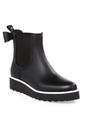 Classic Bow Rain Boots in Black