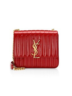 7372717bab Product image. QUICK VIEW. Saint Laurent. Large Vicky Matelassé Patent  Leather Bag