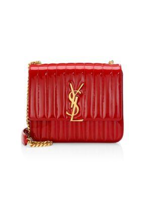 Large Vicky Patent Leather Monogramme Shoulder Bag by Saint Laurent