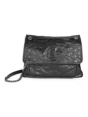 3dfd5ff021 Saint Laurent - Large Niki Chain Crinkle Leather Shoulder Bag - saks.com