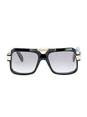 981ec7c74cc Cazal Men s 56MM Square Sunglasses - Black Gradient Smoke