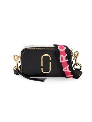 Ladies Black Snapshot Saffiano Leather Cross-Body Bag, Black Multi