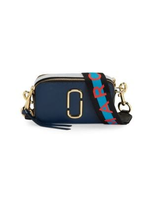 Logo Strap Snapshot Small Camera Bag in Blue Sea Multi