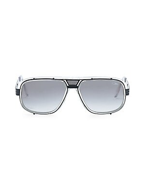 Image of From the Cazal Collection Striking shield frame accentuates gradient lenses on sunglasses 60mm lens width; 15mm bridge width; 140mm temple length Gradient gray lenses Case and cleaning cloth included Acetate/metal Made in Italy. Men Accessories - Men Sung