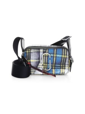 Snapshot Small Leather Camera Bag, Blue Multi