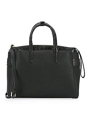 1672a071d7c Nancy Gonzalez - Cristie Leather   Croc Shoulder Bag - saks.com