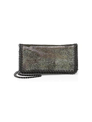 bdc2a07b0f4d Stella McCartney - Shiny Dotted Chamois Chain Shoulder Bag - saks.com
