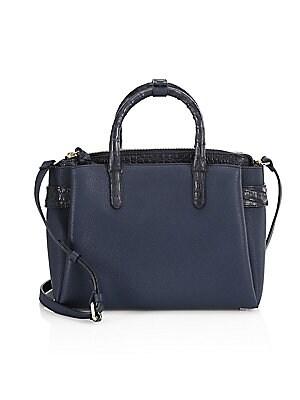 723d9a977a Nancy Gonzalez - Cristie Leather   Croc Shoulder Bag