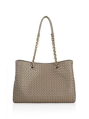 d999546375fc Bottega Veneta - Roma Medium Intrecciato Leather Satchel - saks.com