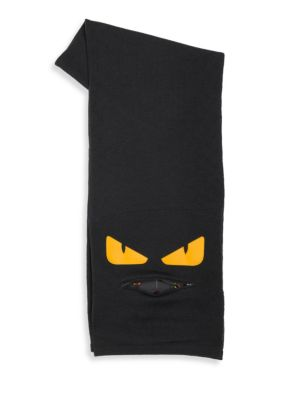 Super Bugs Mouth Knit Scarf by Fendi