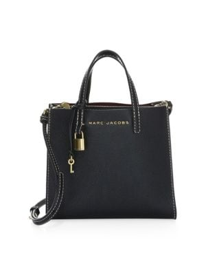Mini Grind Stone Leather Satchel by Marc Jacobs