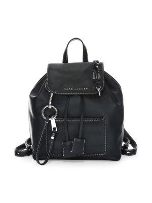 The Bold Grind Leather Backpack - Black