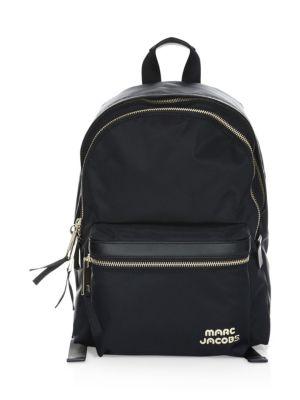 Large Trek Nylon Backpack - Black