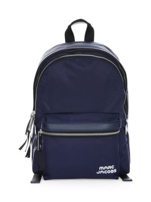 Midnight Medium Backpack In Leather in Blue