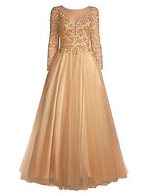 a7e947428901 Basix Black Label - Floral Appliqué Gown - saks.com