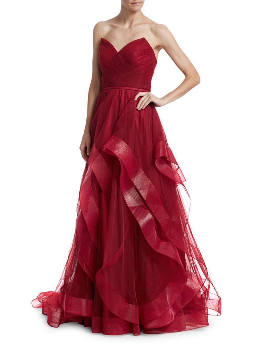 Basix Black Label Sweetheart Cascade Gown | SaksFifthAvenue