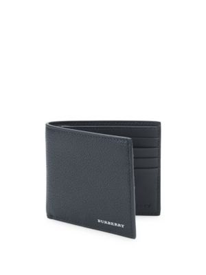 Supple Grained Leather Bifold Wallet by Burberry