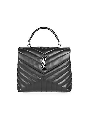 Saint Laurent - Lou Lou Leather Backpack With Silver Hardware - saks.com 29805fe20fbb9