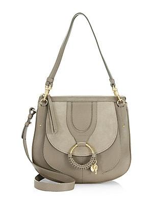5e7c46b05f8c Chloé - Medium Tess Leather Saddle Bag - saks.com