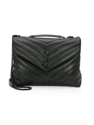 Lou Lou Chevron Leather Shoulder Bag by Saint Laurent