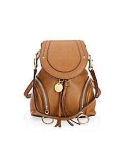 e50b1f0c66 See by Chloé. Mini Olga Pebbled Leather Backpack