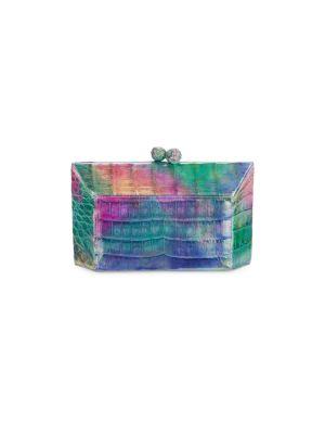 Nancy Gonzalez Women's Gramercy Crocodile Box Clutch In Rainbow Metallic