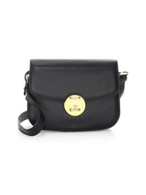Calvin Klein 209W39Nyc Small Round Lock Shoulder Bag - Black