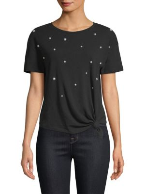 Ava Pearls Cotton Pima Tee by Generation Love