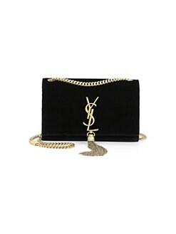 7504b232807c Saint Laurent. Small Katie Velvet Chain Crossbody Bag