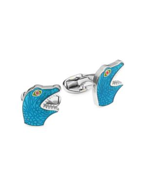 PAUL SMITH Blue Dino Cufflinks, Multi