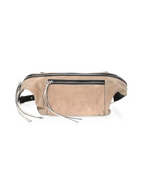 Rag And Bone Pink Suede Large Elliot Fanny Pack, Nude Suede