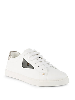 Fendi - Textured Leather Sneakers
