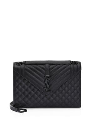Large Tri Quilt Leather Envelope Shoulder Bag by Saint Laurent