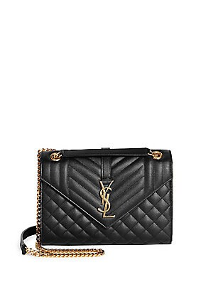 5c566d5c1286 Saint Laurent - Large Monogram Matelassé Leather Chain Shoulder Bag ...