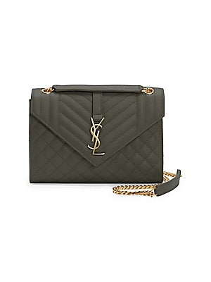b295855698de02 Saint Laurent - Large Monogram Matelassé Leather Chain Shoulder Bag ...
