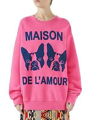 f749e493 Gucci - Maison de l'Amour Sweatshirt with Bosco and Orso - saks.com