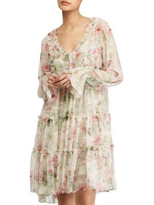 POLO RALPH LAUREN Dresses Long Sleeve Floral Alexa Dress