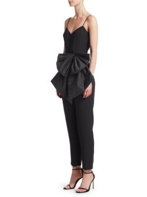 Jumpsuit With Bow by Ml Monique Lhuillier
