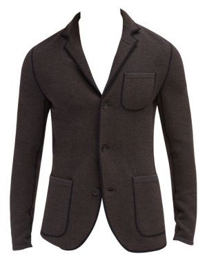 EFM-ENGINEERED FOR MOTION Copley Wool Knit Blazer in Brown