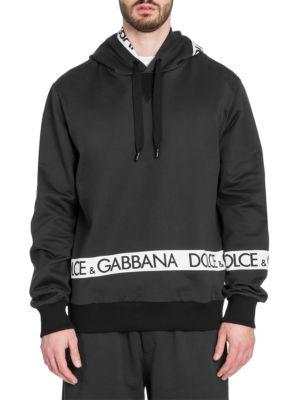 Dolce And Gabbana Black Logo Tape Hoodie