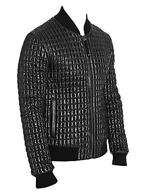 079da583e Dolce & Gabbana - Glossy Quilted Bomber Jacket