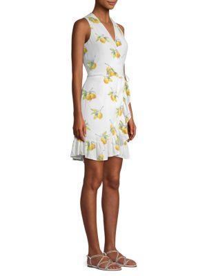 Madison Lemons Tie Front Wrap Dress by Rails