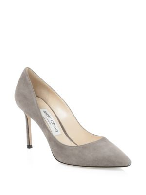 Romy Suede Pumps, Dark Grey